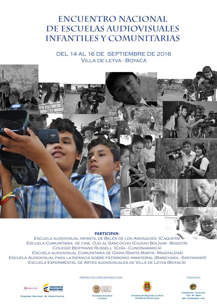 afiche encuentro de Escuelas Audiovisuales