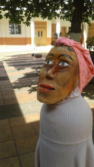 Muñeco realizado por uno de los participantes del taller